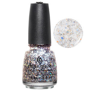 Break the Ice China Glaze Prismatic Silver Glitter Nail Varnish