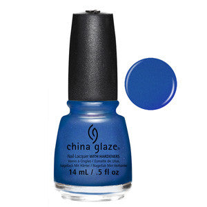 Come Rain Or Shine China Glaze Blue Shimmer Nail Varnish
