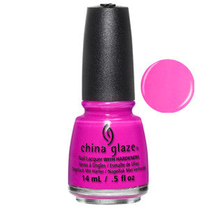I'll Pink to That China Glaze Bright Pink Neon Nail Varnish