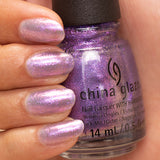 Don't Mesh With Me China Glaze Nail Varnish Iridescent Lavender Shimmer Shade
