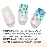 Nail Art with Patridge In The Palm Tree China Glaze Mint Green Nail Varnish