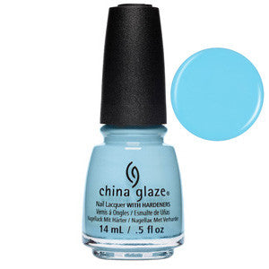 Chalk Me Up China Glaze Plae Sky Blue Nail Varnish