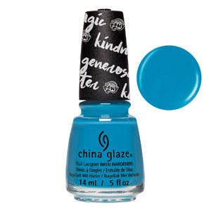 Too Busy Being Awesome China Glaze Blue Nail Varnish