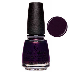 Glamcore China Glaze Dark Deep Purple Nail Varnish