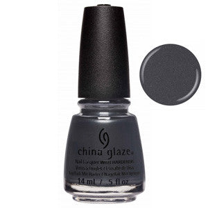 Haute & Heavy China Glaze Dark Grey Shimmer Nail Varnish