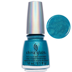 DV8 Blue Green Holographic China Glaze Nail Varnish 14ml