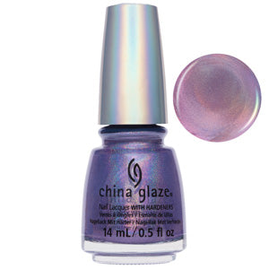 IDK Prismatic Purple Holographic China Glaze Nail Varnish 14ml
