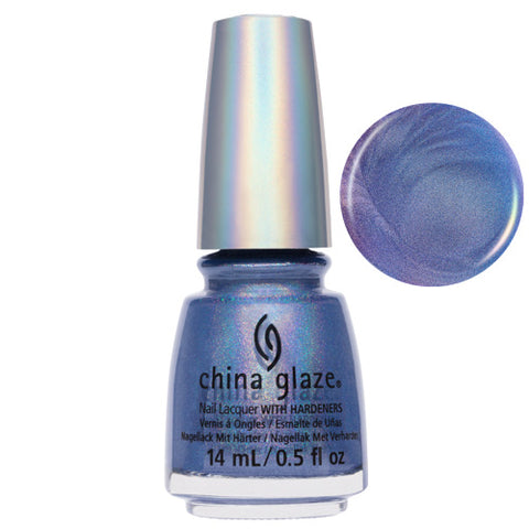 2Nite Soft Sheen Blue Holographic China Glaze Nail Varnish 14ml