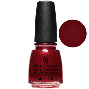 Haute Blooded China Glaze Nail Varnish 14ml in Dark Red Matte