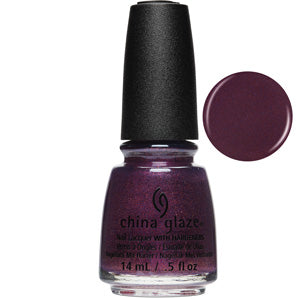 Pay It Fashion Forward China Glaze Nail Varnish 14ml in deep purple glitter