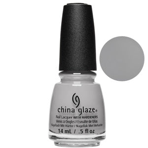Pleather Weather China Glaze Nail Varnish 14ml in light grey matte