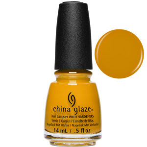Mustard The Courage China Glaze Nail Varnish 14ml in mustard creme