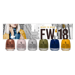 6pc Micro Mini FW '18: Ready to Wear Kit One of each lacquer: Swatch Out!, Throwing Suede, Pleather Weather, Central Parka, You Don't Know Jacket, and Mustard The Courage (0.125 fl oz)