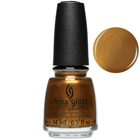 What's Up Bittercup China Glaze Nail Varnish 14ml in Shimmer Copper Shade