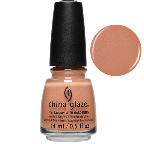 Skinny Tripping China Glaze Nail Varnish 14ml Golden Peach Shimmer Shade