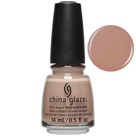Beach Buff China Glaze Nail Varnish 14ml Rose Peach Nude Shimmer