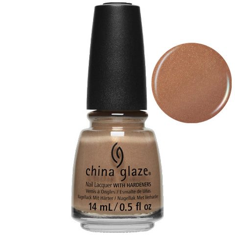 Tan-Do Attitude China Glaze Nail Varnish 14ml Sparkling Nude Shade