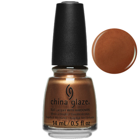 Copper-Tunist China Glaze Nail Varnish 14ml True Copper Metallic Shade