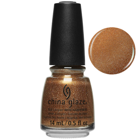 Glow-Worthy China Glaze Nail Varnish 14ml Copper Tone Sparkle