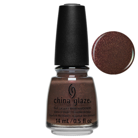 Send Hues China Glaze Nail Varnish 14ml Deep Rich Chocoloate Brown Shade