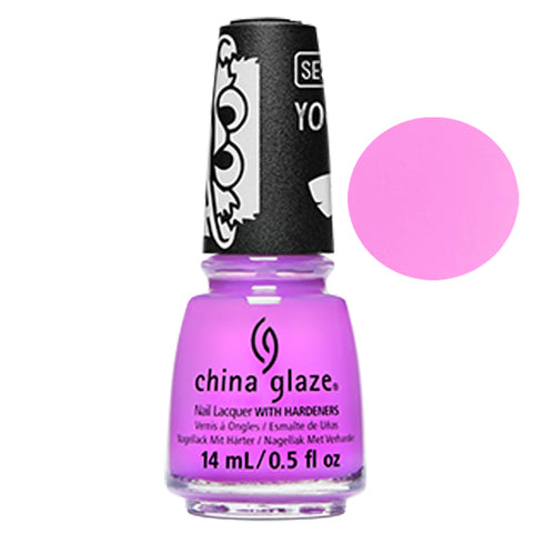 I Count Even China Glaze Sesame Street Collection Nail Varnish 14ml in Pink