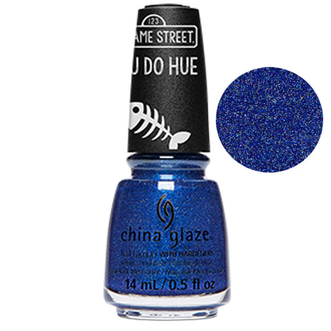Grover It China Glaze Sesame Street Collection Nail Varnish 14ml in Blue Glitter