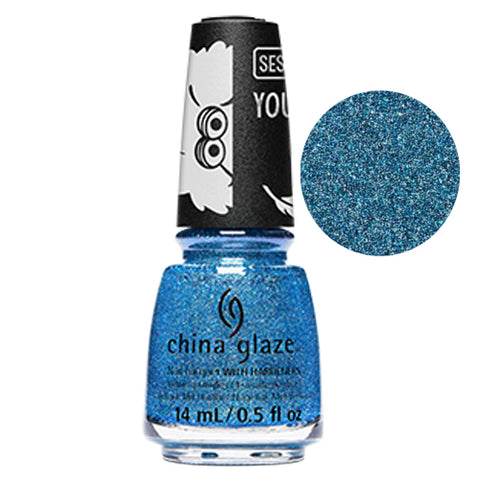 Dat Colour Dough China Glaze Sesame Street Collection Nail Varnish 14ml in Aqua Blue Glitter