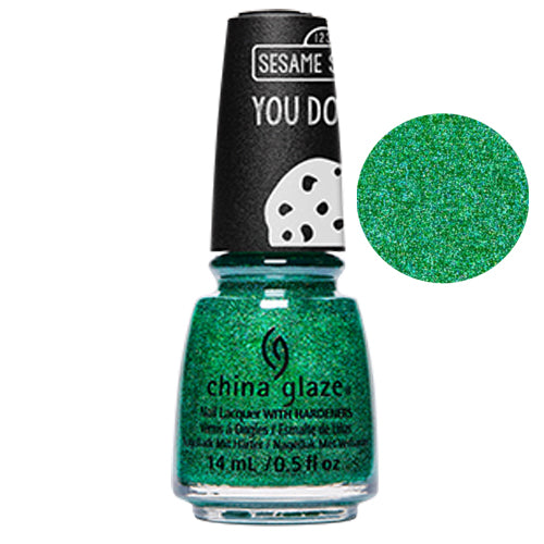 Free To Be Sesame China Glaze Sesame Street Collection Nail Varnish 14ml in Green Glitter