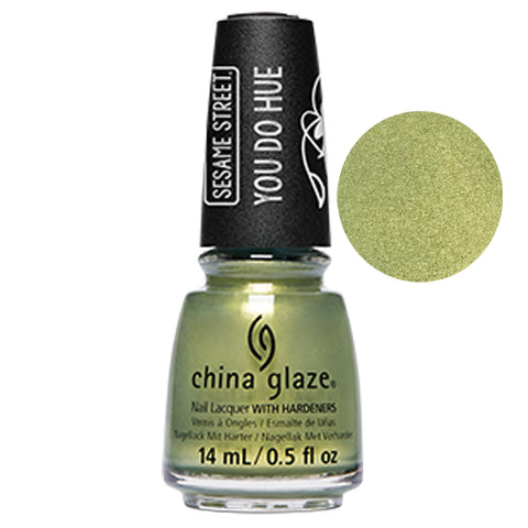 Trash Can-Do Attitude Sesame China Glaze Sesame Street Collection Nail Varnish 14ml in Green Gold Shimmer