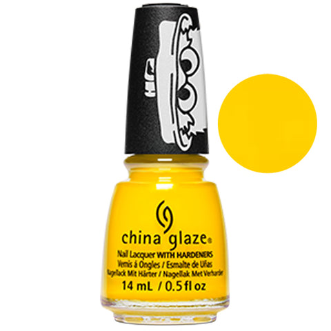 Beak On Fleek Sesame China Glaze Sesame Street Collection Nail Varnish 14ml in Bright Yellow