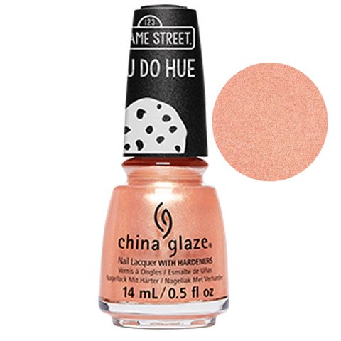 I Believe In Snuffy Sesame China Glaze Sesame Street Collection Nail Varnish 14ml in Coral Shimmer