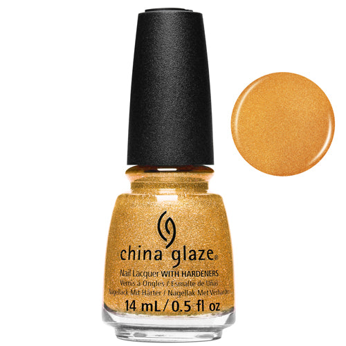 Gold Mine Your Business China Glaze Nail Varnish 14ml Gold Shimmer