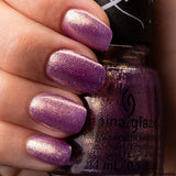 Fa-La-Ah-Ah China Glaze Nail Varnish 14ml Purple Gold Shimmer