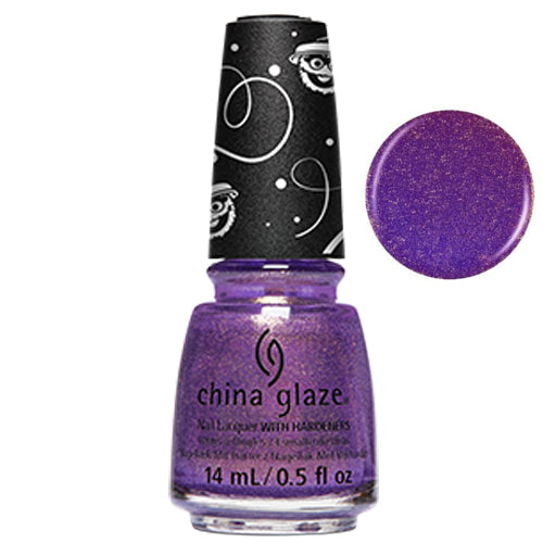Ha-La-Ah-Ah China Glaze Nail Varnish 14ml Purple Gold Shimmer