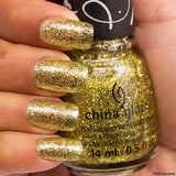 Cele-bert China Glaze Nail Varnish 14ml Lime Green shade with Shimmery Flecks