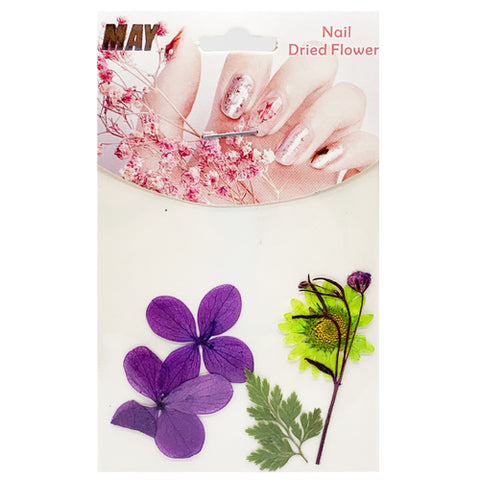 Green Dry Flower & Leaves for Nail Art