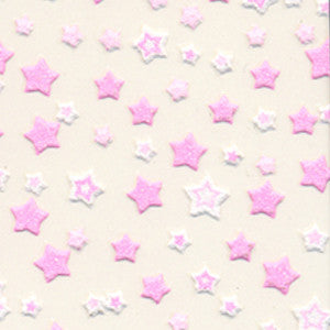 3D Nail Art Stickers Pink & White Stars