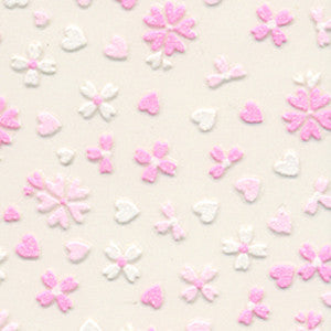 3D Nail Art Stickers Pink Fancy Flowers