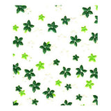 3D Nail Art Stickers Green Flowers