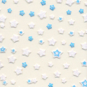 3D Nail Art Stickers Blue & White Stars