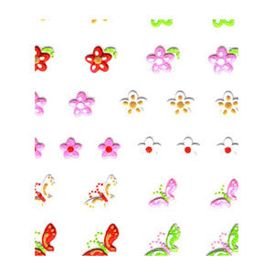3D Nail Art Stickers Multi 021