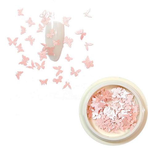 3D Butterfly Nail Art Light Pink shade