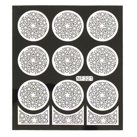 Nail Art Vinyl Template Sheet NF321 to create different patterned nail art