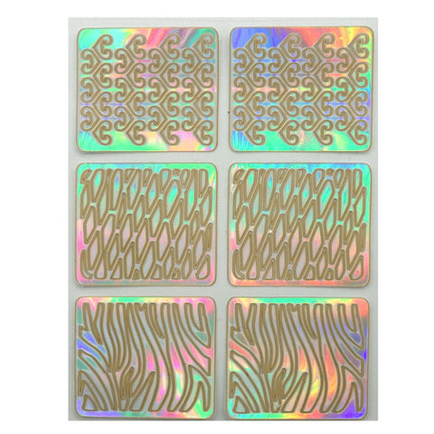 Nail Art Vinyl Template Sheet A352
