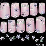 3D Nail Art Stickers Lace psa13