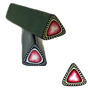 Black & Pink Triangle Fimo No.113 to create 3D nail art
