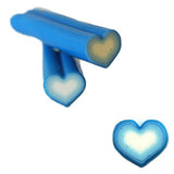Blue & White Heart Fimo No.6 to create 3D nail art