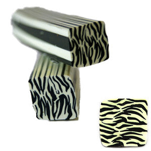 Black & White Zebra Square Fimo No.82 to create 3D nail art