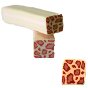 Pink Animal Square Fimo No.87 Nail Art