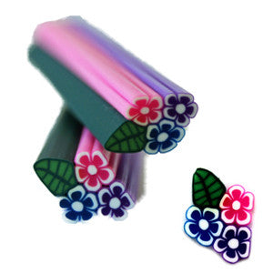 Round Small Flowers Fimo No.109 Nail Art